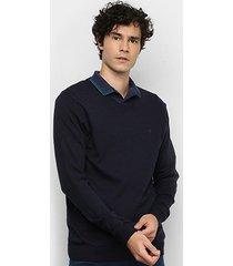 suéter tricô forum gola v básico masculino