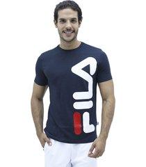 camiseta azul fila t shirt vertical