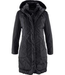 cappotto corto foderato con cappuccio (nero) - bpc bonprix collection