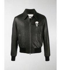 alexander mcqueen logo-patch zipped jacket