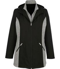 softshell jas miamoda zwart::grijs