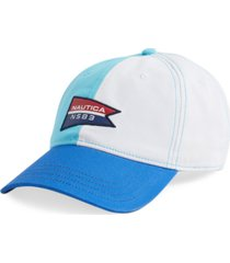 nautica jeans co. men's 99 nautica patch baseball cap