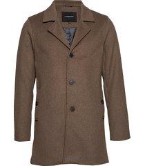 melange wool coat wollen jas lange jas bruin lindbergh
