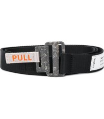 heron preston industrial brand embroidered belt - black