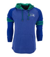 mitchell & ness men's seattle seahawks lightweight hoodie 2.0