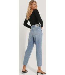 calvin klein jeans med hög midja - blue