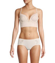 free people women's brianna longline underwire bra - nude - size m