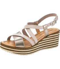 sandaletter klingel nude::guldfärgad