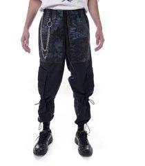 pantalón cargo negro kabra kuervo morphosis