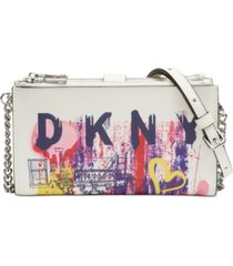 dkny bryant leather crossbody wallet, created for macy's
