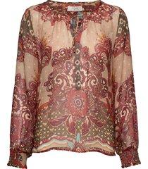 sanniecr blouse blouse lange mouwen multi/patroon cream