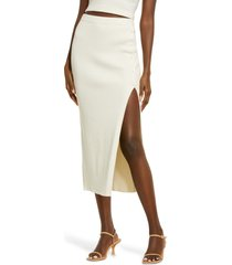 open edit slit sweater skirt, size x-large in ivory bone at nordstrom