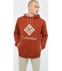 columbia columbia lodge french terry hoodie tröjor red