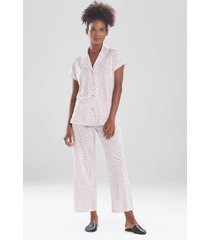 natori mini vines sleepwear pajamas & loungewear set, women's, cotton, size m natori