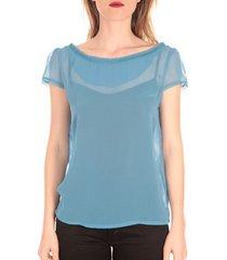 t-shirt korte mouw aggabarti t-shirt voile121072 bleu