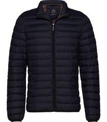 quilted down jacket gevoerd jack zwart lindbergh