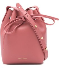 mansur gavriel mini mini bucket bag - pink
