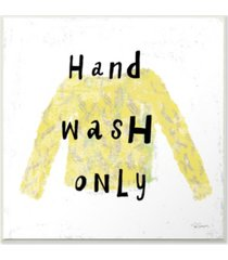 "stupell industries hand wash only yellow sweater wall plaque art, 12"" x 12"""