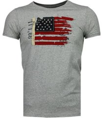 t-shirt korte mouw bb bread buttons usa vlag borduur