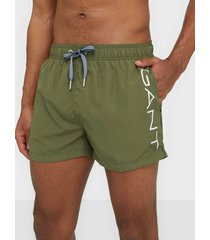 gant logo swim shorts lightweight badkläder four leaf