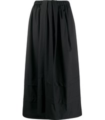 christian wijnants tonal panel detail skirt - black