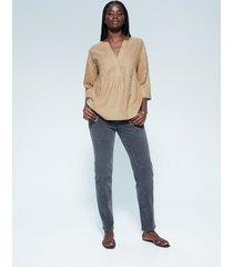 blouse van 100% linnen