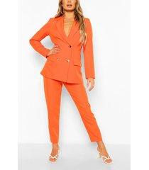getailleerde broek, oranje