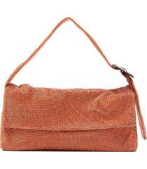 benedetta bruzziches rhinestone-embellished shoulder bag - orange