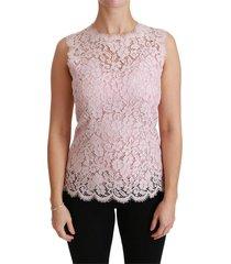 roze kant sleeveless cotton top
