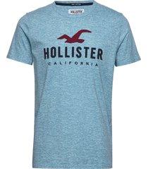 core tech t-shirts short-sleeved blå hollister