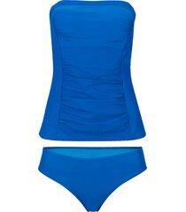 tankini a fascia sostenibile (set 2 pezzi) (blu) - bpc selection