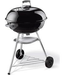 churrasqueira compact a carvão weber preta