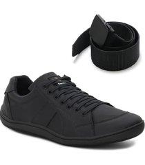 sapatênis casual tênis masculino form's original + cinto preto