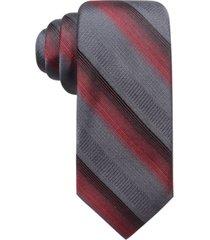 ryan seacrest distinction men's lombardy stripe slim tie, created for macy's