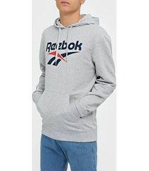 reebok classics cl f vector hoodie tröjor ljus grå