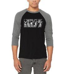 men's raglan kiss word art t-shirt