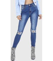 jeans brave soul azul - calce ajustado