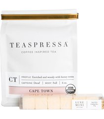 teaspressa cape town decaf loose tea & latte luxe sugar cube set