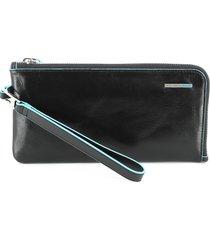 piquadro womens black wallet