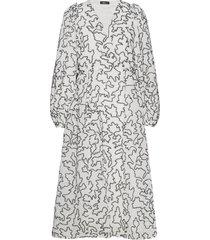 bernard, 940 lurex organza jurk knielengte wit stine goya