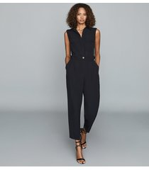 reiss abella - utility jumpsuit in navy, womens, size 12