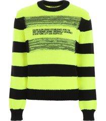 calvin klein striped pullover