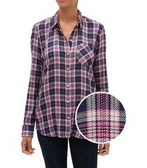 blusa drapey cuadrille morado gap