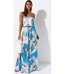 akira bon voyage printed maxi dress