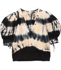 bess pullover in atlantic tie dye
