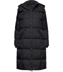d2. classic down long coat gevoerde lange jas zwart gant