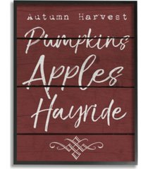 "stupell industries autumn harvest activities framed giclee art, 11"" x 14"""