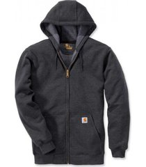carhartt vest men zip hooded sweatshirt carbon heather-m