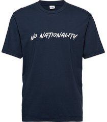 dylan print tee 3463 t-shirts short-sleeved blå nn07