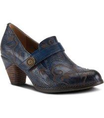 l'artiste women's huekiss laser etched floral shooties women's shoes